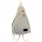 3305 - WHITE MEDIUM CANVAS BACKPACK