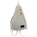 3305 - WHITE MEDIUM CANVAS BACKPACK