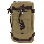 A49 - TAUPE CANVAS BACKPACK OR DUFFEL BAG