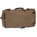 A49 - BROWN CANVAS BACKPACK OR DUFFEL BAG
