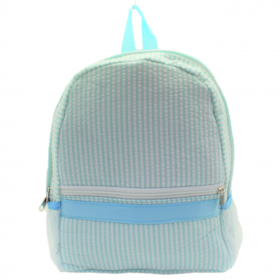 9270S - AQUA SEER SUCKER BACKPACK