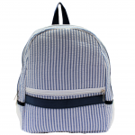 9270S - NAVY SEER SUCKER BACKPACK