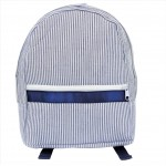 6008 - NAVY SEER SUCKER BACKPACK