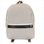6008 - BEIGE SEER SUCKER BACKPACK