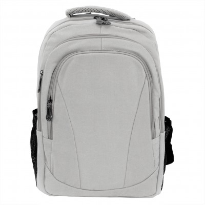 0528 - WHITE CANVAS BACKPACK