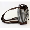 9149 - NAVY STRIPE SMALL BACKPACK
