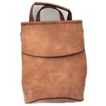 UN00692-TAUPE PU LEATHER MEDIUM BACKPACK