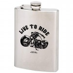 STAINLESS STEEL FLASK LTR DESIGN - 8 Oz.