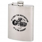 STAINLESS STEEL FLASK - 8 Oz.