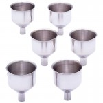 6PC. LARGE STAINLESS STEEL FLASK FUNNEL SET