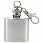 STAINLESS STEEL KEY CHAIN FLASK - 1 Oz.