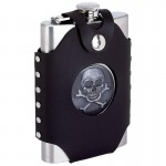 STAINLESS STEEL FLASK /W SHEATH - 8 Oz.