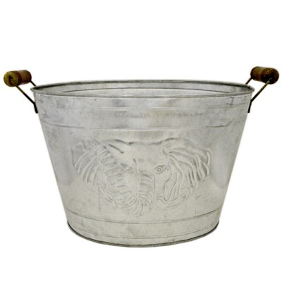 1030- SILVER ELEPHANT FACE BUCKET