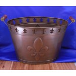 1126C-FDL COPPER TUB W/CUT OUT FDL DESIGN