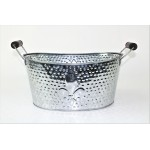 1086- FDL HAMMERED SILVER SMALL TUB