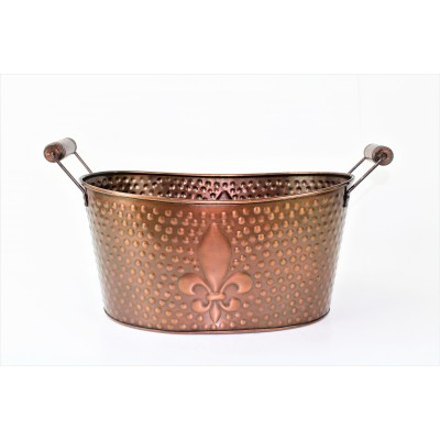 1116 SMALL FDL HAMMERED COPPER TUB