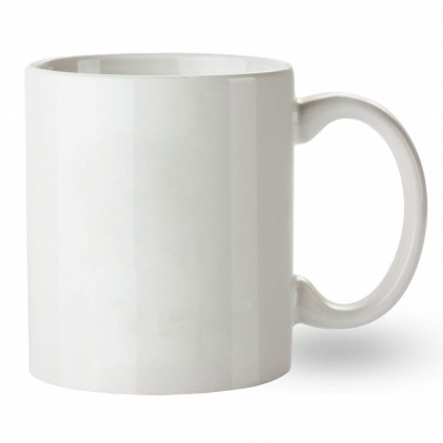500603- WHITE SUBLIMATION BLANK  CERAMIC COFFEE MUG