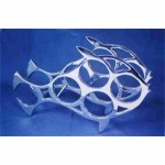 20837 Fish Rack Wine Holder