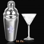 6019-LARGE STAINLESS COCKTAIL STEEL SHAKER W/FDL 16 OZ.