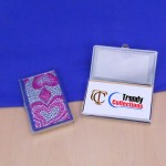 ST32104-HRT CRYSTAL HEART BUSINESS CARD HOLDER