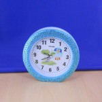 ST32102BLUE - ROUND ALARM CLOCK / W BLUE CRYSTAL