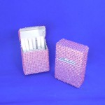 ST32106-LPNK CIGARETTE HOLDER / PNK CRYSTAL