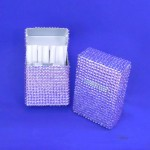 ST32106-PUR CIGARETTE HOLDER / PURPLE CRYSTAL