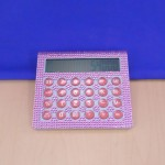 ST32117-LIGHT PINK CRYSTAL CALCULATOR