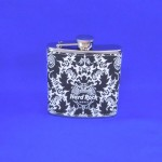 YX2011-HARD ROCK HOTEL FLASK / BLACK & WHITE 8 OZ.