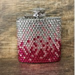 ST32120PNK-CRYSTAL FLASK PURPLE / CLEAR - 3 OZ.