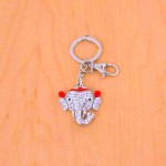 CH4008-ELEPHANT KEY CHAIN HOLDER / W CLEAR STONE