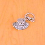 CH4016-HAT KEY CHAIN HOLDER / W CLEAR CRYSTAL