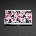 ST32104-FLR FLOWER CRYSTAL BUSINESS CARD HOLDER