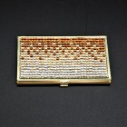ST32104-AMBER CRYSTAL / BUSINESS CARD HOLDER