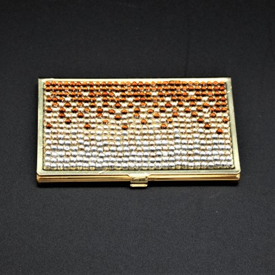 ST32104-AMBER CRYSTAL / BUSINESS CARD HOLDER