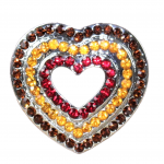 10029 HEART CANDLE PIN / MULTI COLOR CRYSTAL