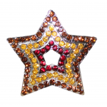 10030 STAR CANDLE PIN / MULTI COLOR CRYSTAL