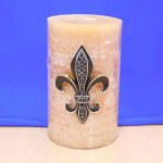 10033BL - BLACK STONE LARGE FDL CANDLE PIN