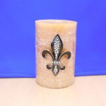 10033CL-SM - CLEAR STONE SMALL FDL CANDLE PIN