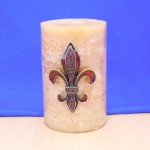 10033RD - RED STONE LARGE FDL CANDLE PIN