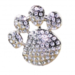 1016CL - CLEAR STONE / PAW PRINT CANDLE PIN