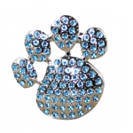 1016TQ - TURQUOISE STONE / PAW PRINT CANDLE PIN