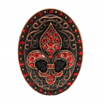 7005RD- RED STONE CANDLE PIN