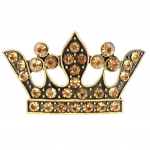 7009AM-AMBER STONE CROWN CANDLE PIN