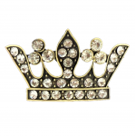 7009CL-CLEAR STONE CROWN CANDLE PIN