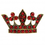 7009RD-RED STONE CROWN CANDLE PIN
