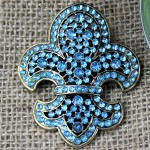 1034TQ - TURQUOISE STONE CANDLE PIN W / FDL