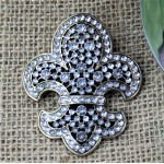 1034CL - CLEAR STONE CANDLE PIN W / FDL