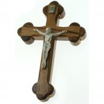 1001-WOOD CROSS W/JESUS SILVER