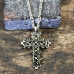 NK12122 - ANTIQUE CROSS CHAIN NECKLACE - 29""